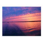 Otra puesta del sol en los Great Lakes Tarjeta Postal