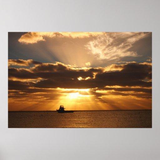 Otra puesta del sol póster
