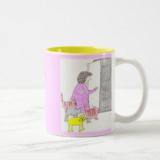 otra señora loca del gato taza