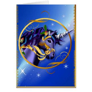 Otra tarjeta de cara mágica del unicornio del navi