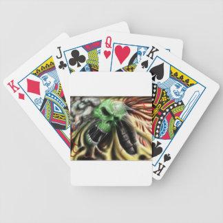 otra vez cráneo vivo baraja de cartas