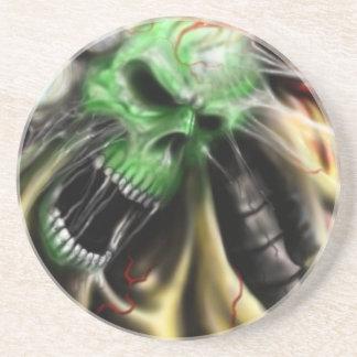otra vez cráneo vivo posavasos diseño