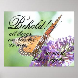Otra vez llevado poster de la mariposa póster