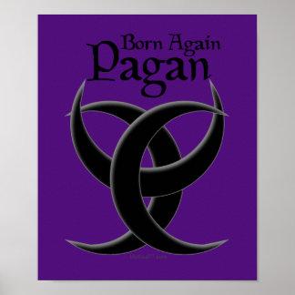 Otra vez llevados posters púrpuras paganos