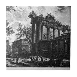 Otra vista de las ruinas de los pronaos azulejo cuadrado pequeño