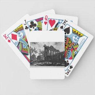 Otra vista de las ruinas de los pronaos baraja cartas de poker