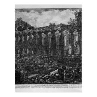 Otra vista del templo en la ciudad de Paestum, Tarjeta Postal
