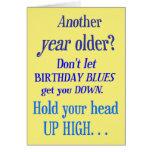 ¿Otro año más viejo? Ningunos azules del feliz cum Tarjetas