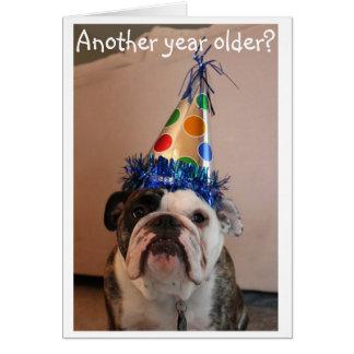 ¿Otro año más viejo? Tarjeta de cumpleaños