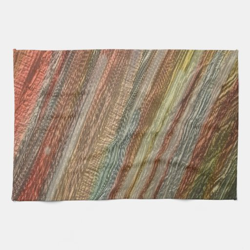 otro arco iris, verde marrón toalla de mano