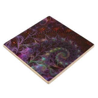 Otro arte del fractal de la fantasía del mundo posavasos de madera