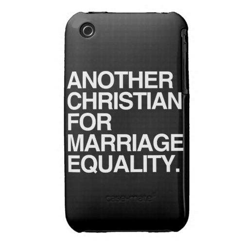 OTRO CRISTIANO PARA LA IGUALDAD DE LA BODA iPhone 3 CARCASA