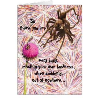 Otro cumpleaños le ase tarjeta de la araña