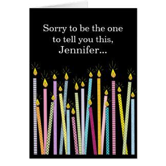 Otro cumpleaños que consigue viejo cumpleaños tarjeta de felicitación