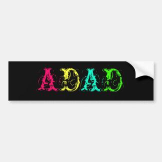 Otro día otras siglas divertidas del dólar ADAD Pegatina Para Auto