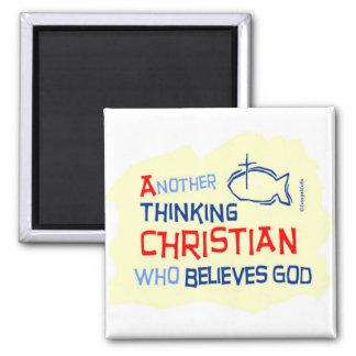 Otro diseño cristiano de pensamiento del regalo imán para frigorífico