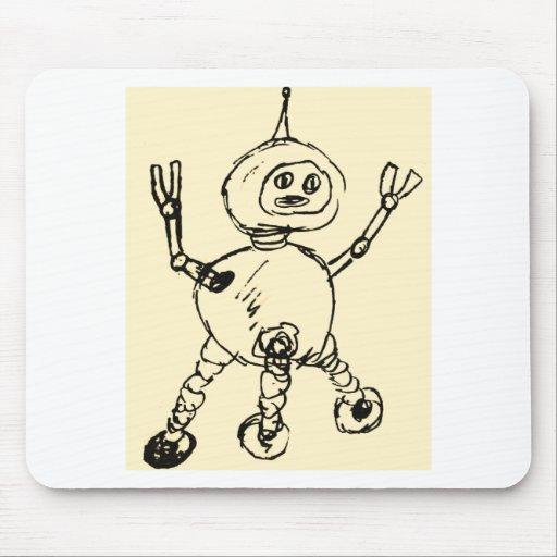Otro Doodle del robot Alfombrillas De Raton