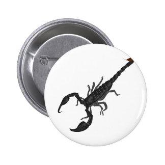 Otro escorpión negro imperial pin redondo de 2 pulgadas