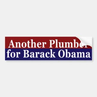 Otro fontanero para el pegatina de Barack Obama Pegatina Para Auto