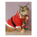 Otro gato de Santa del navidad Membretes Personalizados