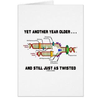 Otro más año más viejo aún apenas como DNA torcida Tarjeta De Felicitación