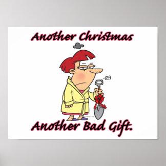 otro navidad otra mala hembra del regalo póster