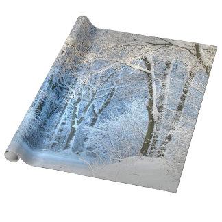 otro país de las maravillas del invierno papel de regalo