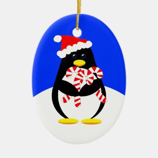 Otro pingüino de Santa: 2011 Adorno Ovalado De Cerámica