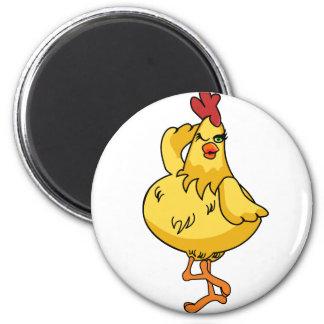 Otro pollo muy tonto imán redondo 5 cm