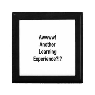 otro texto negro de la experiencia de aprendizaje caja de joyas