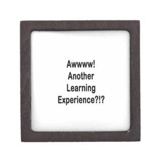 otro texto negro de la experiencia de aprendizaje caja de joyas de calidad