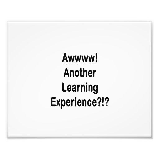 otro texto negro de la experiencia de aprendizaje fotografia