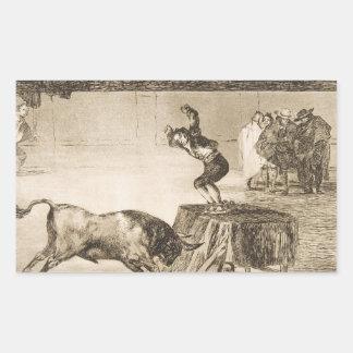 Otro truco por Martincho en el mismo anillo Goya Pegatina Rectangular