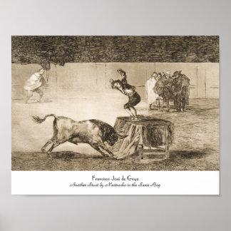 Otro truco por Martincho en el mismo anillo Goya Póster