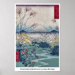 Otsuki coloca en la provincia de Kai por Ando, Hir Posters