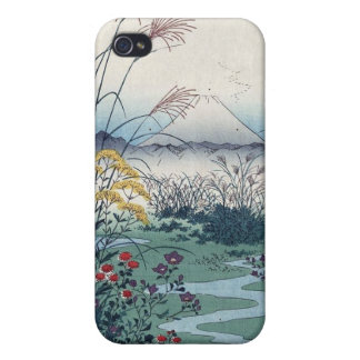 Otsuki fields by Hiroshige, Vintage Japanese Print iPhone 4 Cover
