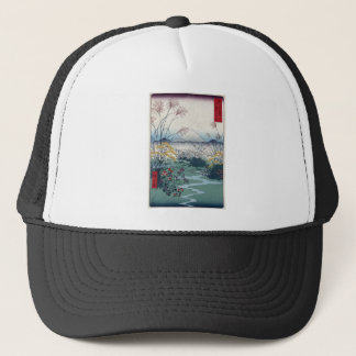 Otsuki fields by Hiroshige, Vintage Japanese Print Trucker Hat
