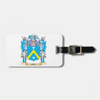 Ott Coat of Arms - Family Crest Tag For Luggage