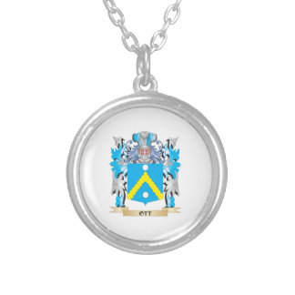Ott Coat of Arms - Family Crest Round Pendant Necklace