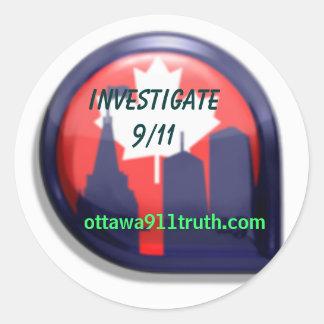 Ottawa 9/11 pegatina de la verdad - investigue
