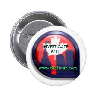 Ottawa 9/11 verdad - investigue 9/11 botón pins