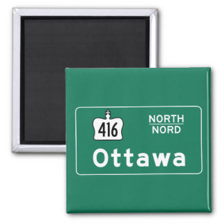 Ottawa, Canada Road Sign Magnet