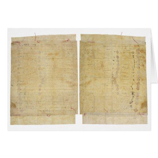 Ottawa Chippewa Wyandot Potawatomi Indian Treaty Cards