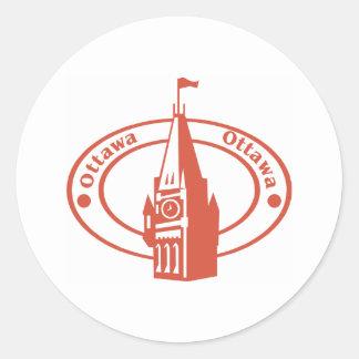 Ottawa Classic Round Sticker