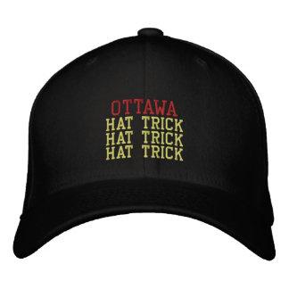 OTTAWA  HAT TRICK EMBROIDERED HATS