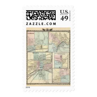 Ottawa, LaSalle, Galena, Jonesboro and Sparta Postage Stamps