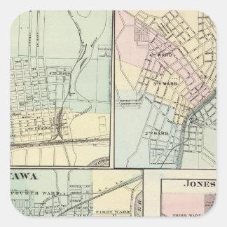 Ottawa, LaSalle, Galena, Jonesboro and Sparta Square Sticker