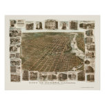 Ottawa, ON, Canada Panoramic Map - 1895 Poster