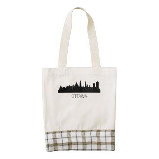 Ottawa Ontario Cityscape Zazzle HEART Tote Bag