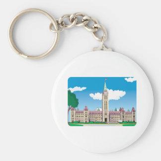 Ottawa Parliament Building Keychain